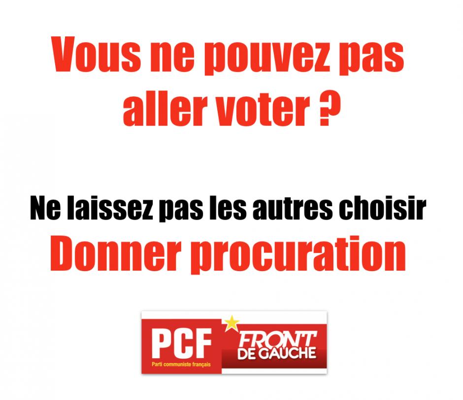 Vous ne pouvez pas aller voter, pensez à donner procuration !